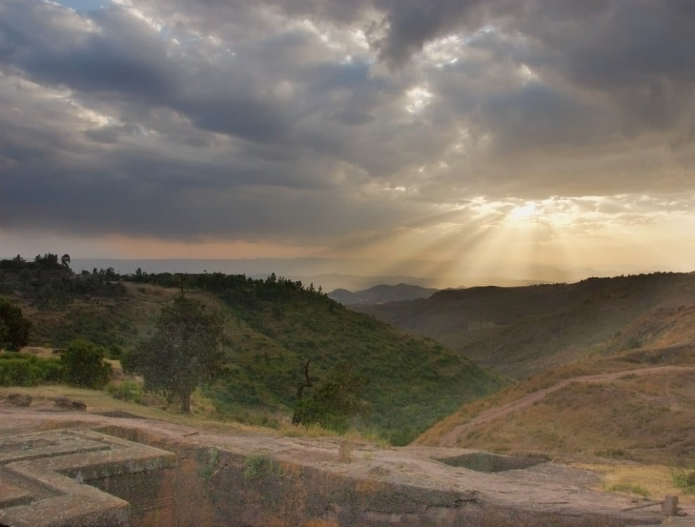 Zachód Słońca nad Lalibelą (A. Davey)